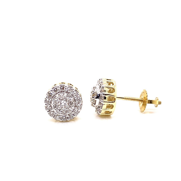 Double Layered Circle Diamond Earrings