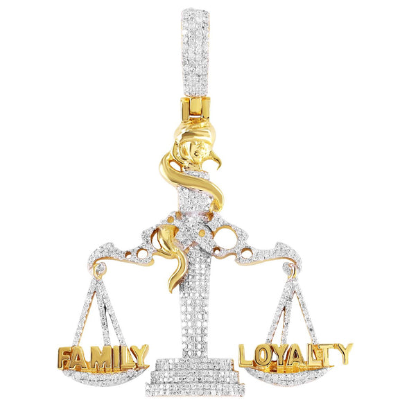 Family Loyalty Libra Scale Diamond Pendant
