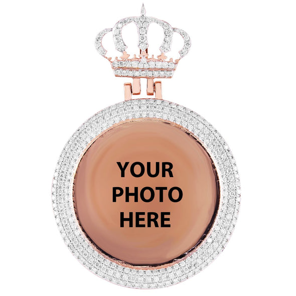 Picture Pendant With Crown Pave Set Bezel