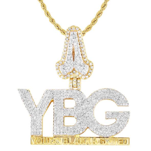 Young Black & Gifted Custom Diamond Pendant