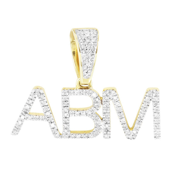 All About Money Custom Name 10K Gold Diamonds Pendant