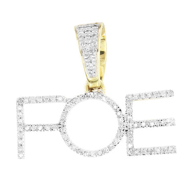10K Gold Diamonds Family Over Everything Initials Pendant