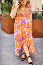 IN STOCK Harley High-Low Dress - Orange
