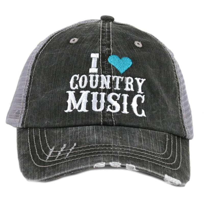 I Love Country Music Trucker Hats