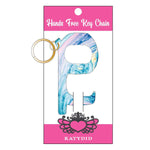 Blue Marble Hands Free Wholesale Key Chain