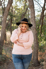 It's A Must Henley Top - Pink
