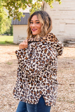Mayhem In Manhattan Teddy Coat - Leopard