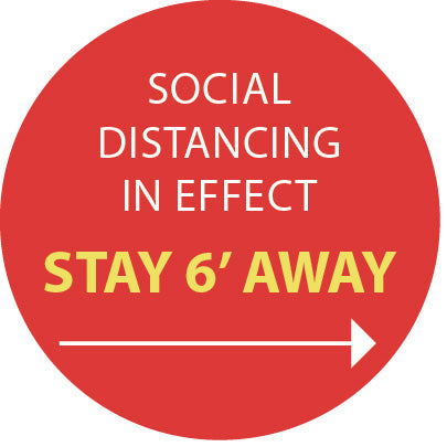 Social Distancing red sign