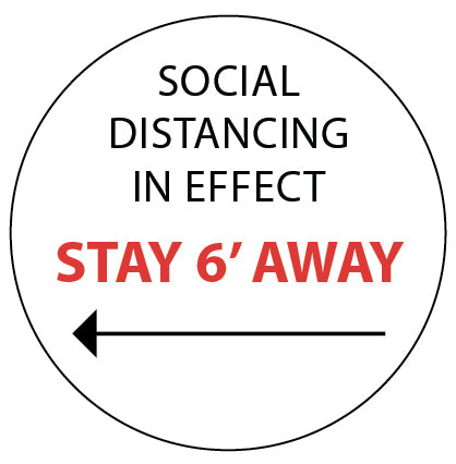 Social Distancing white sign