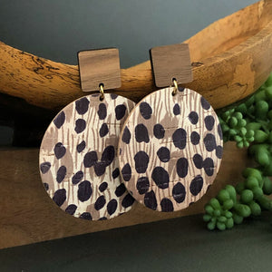 Hannah Safari Print Earrings