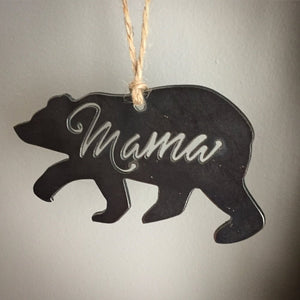 Mama Bear Metal Ornament