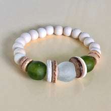 Load image into Gallery viewer, Wood and Glass Bead Bracelets