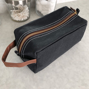 Canvas Travel Bag - Waxed Black