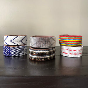 Beaded Leather Cuff Bracelets