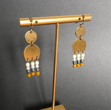 Load image into Gallery viewer, Brass Dangle Earrings