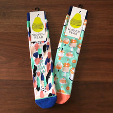 Load image into Gallery viewer, Fun Print Socks by Woven Pear