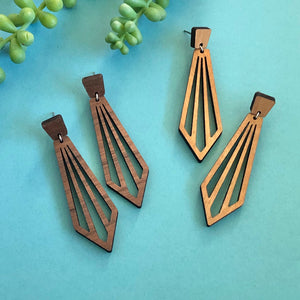 Ray - Wood Drop Earrings