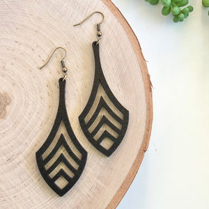 Finn Wooden Earring - Black