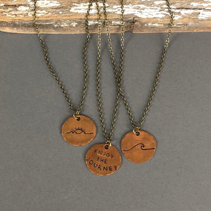 Smashed Penny Necklace with Cable Chain