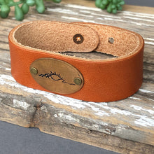 Load image into Gallery viewer, Nature Trio Leather Cuff Bracelet