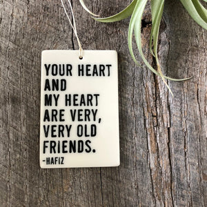 Porcelain Handmade Ornament - Old Friends