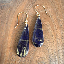 Load image into Gallery viewer, Teardrop Maple/Resin Earrings