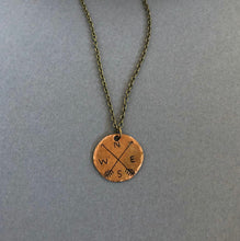 Load image into Gallery viewer, Smashed Penny Necklace with Cable Chain