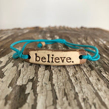 Load image into Gallery viewer, MudLOVE Inspirational Bracelet - Believe