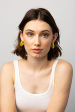 Load image into Gallery viewer, Yellow Small Hoop Acetate Earring
