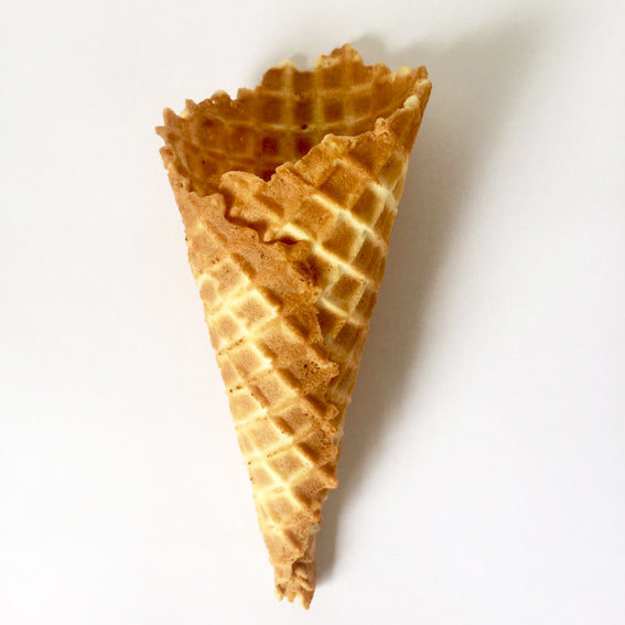 Freshly Rolled Waffle Cones