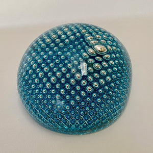 Explosion Glass Sphere Blue