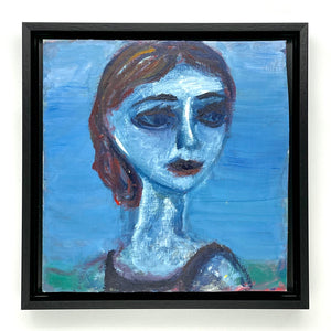 Portrait of a Young Woman (blue)