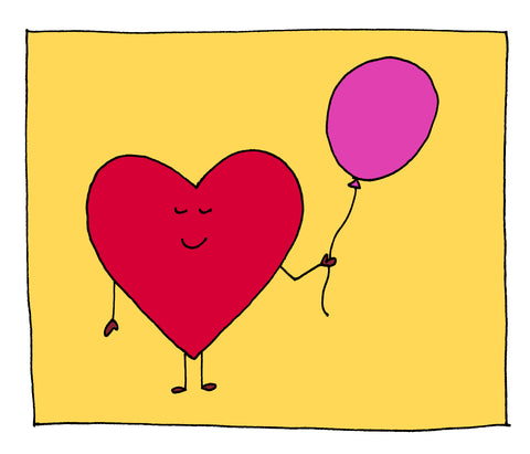 Heart Ballon by Chirp and Moo