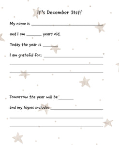 New Years Eve Gratitude Sheet - digital download