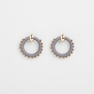 Beaded Full Circle earrings