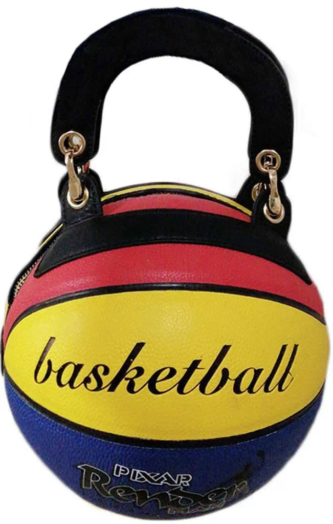 Color-blocking Basketball Bag