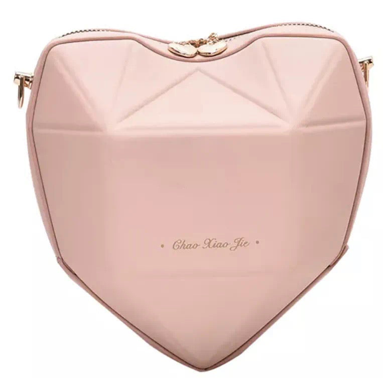 Nude Heart Shape Handbag
