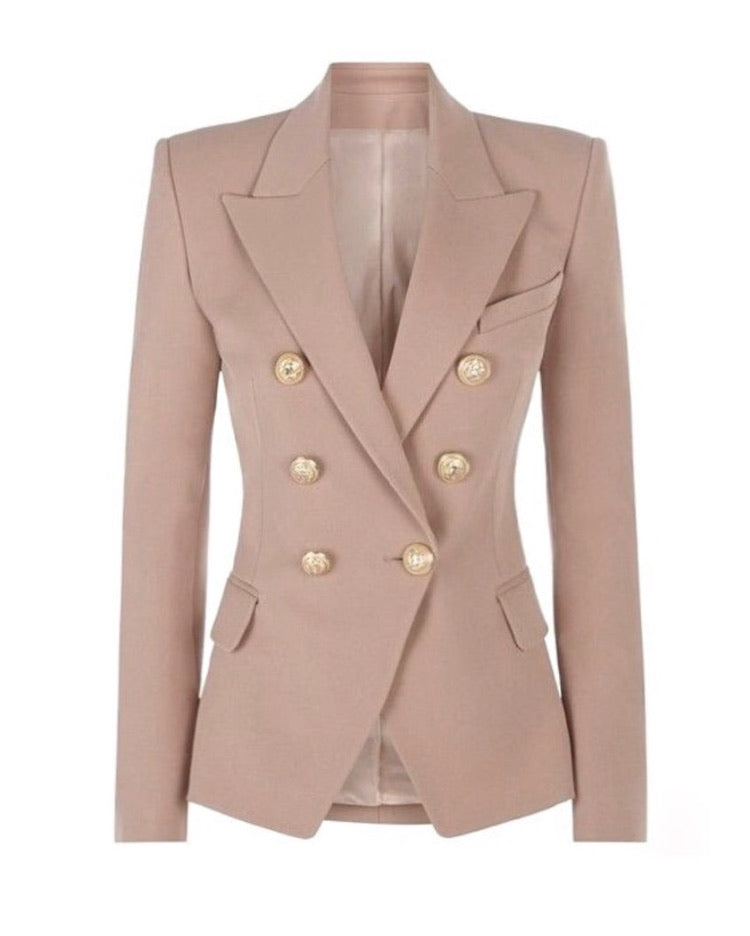 Nude Double Breasted Blazer