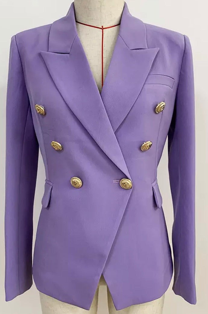 Lavender Double Breasted Blazer
