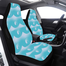 Load image into Gallery viewer, Car Seat Cover Light Blue Waves and Swells Airbag Compatible (Set of 2)