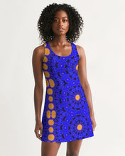 Load image into Gallery viewer, Racerback Dress in Orange & Blue Sunburst