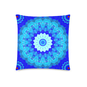 "2-Sided Throw Pillow Cover 18"" x 18"" - Blue Mosaics 3"