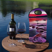 Load image into Gallery viewer, Tahoe Sunset 1   2-Bottle Neoprene Wine Bag