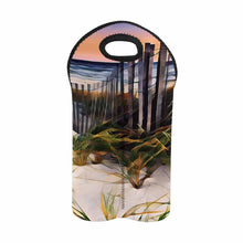 Load image into Gallery viewer, Beach Fence   2-Bottle Neoprene Wine Bag