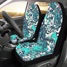 Load image into Gallery viewer, Teal Camo Car Seat Covers (Set of 2)