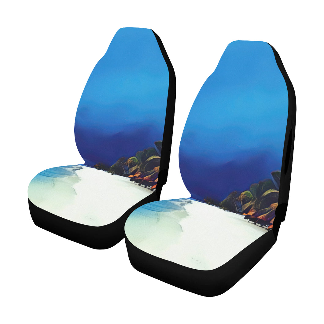 Car Seat Cover Airbag Compatible- Beach in a Storm (Set of 2)