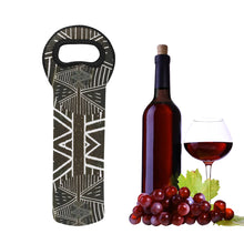 Load image into Gallery viewer, 1- Bottle Wine Neoprene Bottle Tote- Single Bottle, Mali Design 1