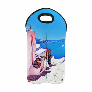 Greece 2   2-Bottle Neoprene Wine Bag