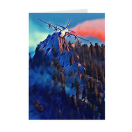 Airdrop Over Mountain Ridge- Greeting Cards