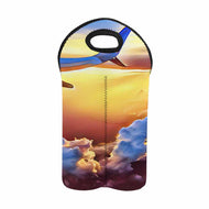 Jet plane wing sunset   2-Bottle Neoprene Wine Bag